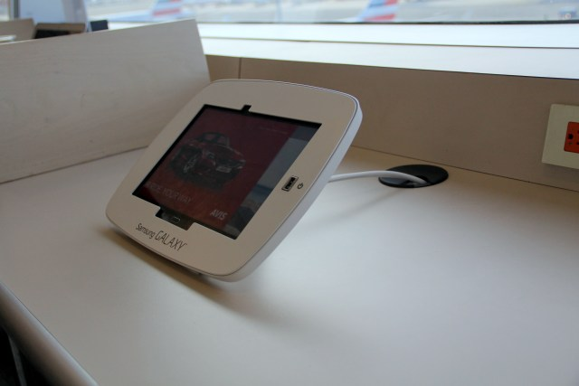 Tablets in the Admirals Club may be used free of charge