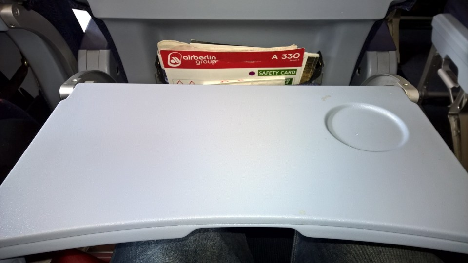Air Berlin Economy Class Seating