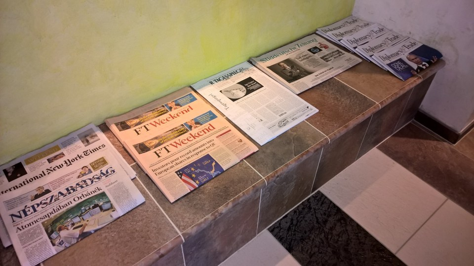 Newspapers in the relexation area