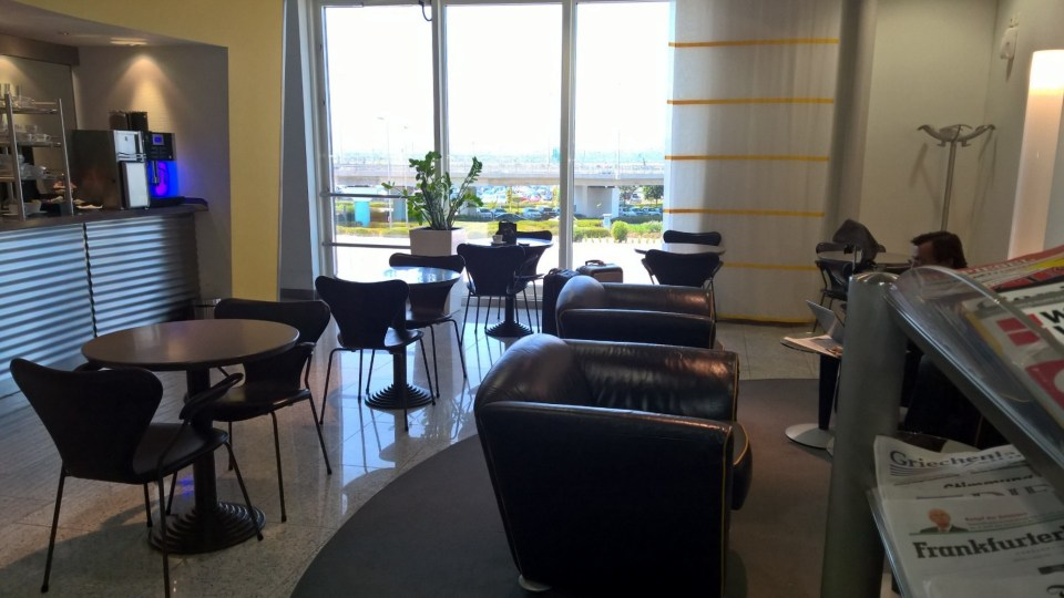 Lufthansa Business Lounge Athens Seating