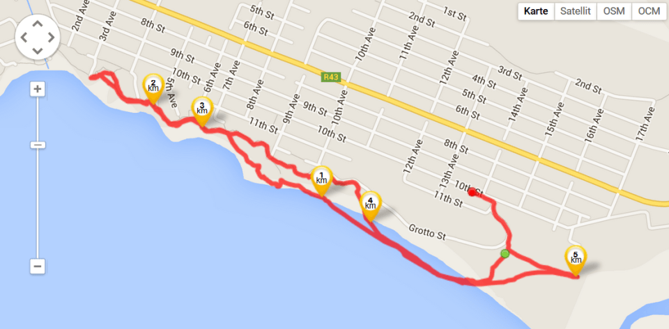Running in Hermanus