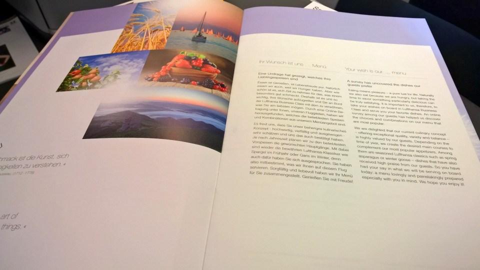 Lufthansa Business Class Board Magazine