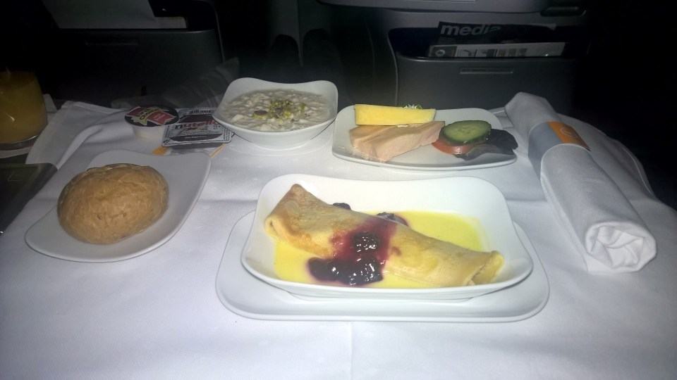 Lufthansa Business Class Breakfast