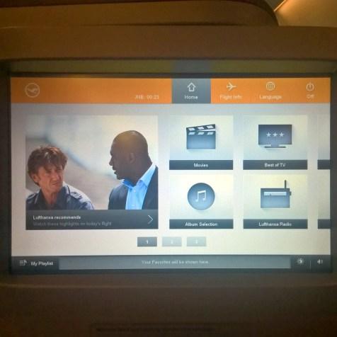 Lufthansa Business Class Entertainment