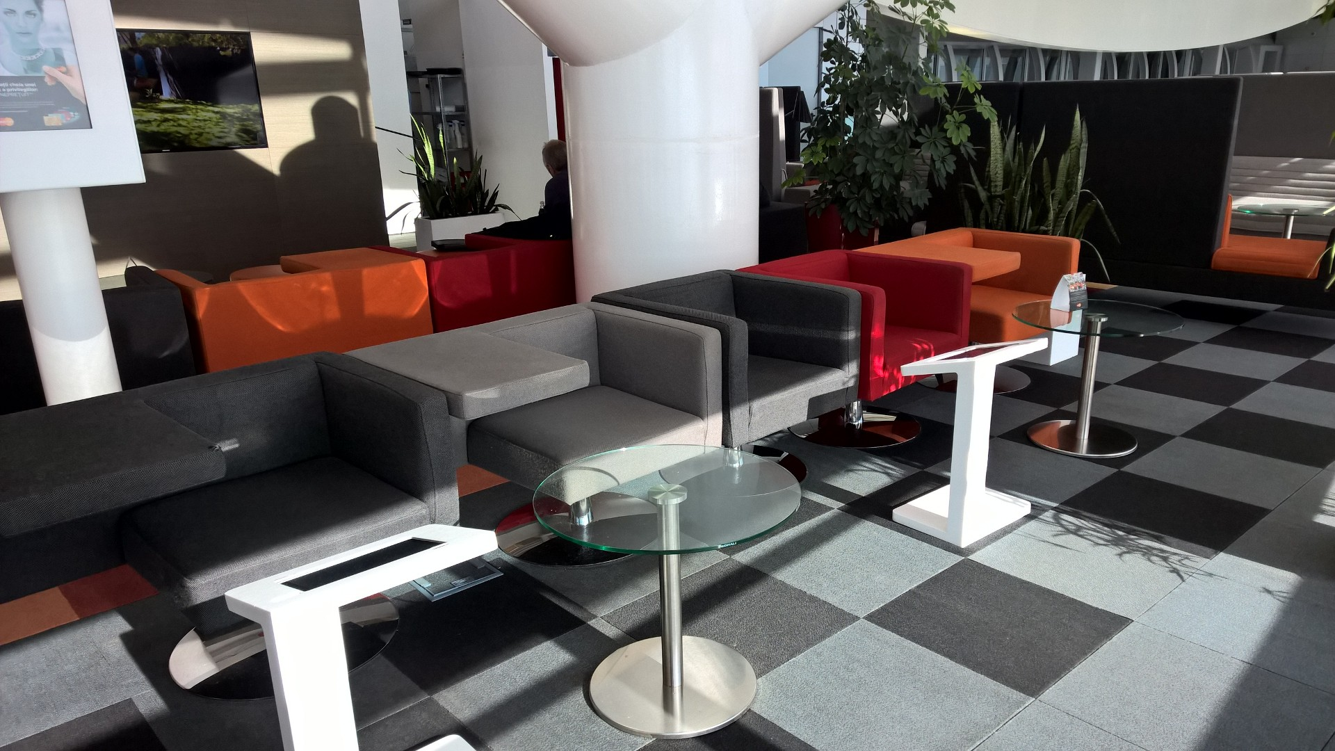Seating MasterCard Business Lounge Bucharest