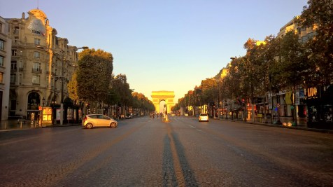 Running in Paris Champs Elysees
