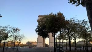 Running in Paris Arc de Triomph