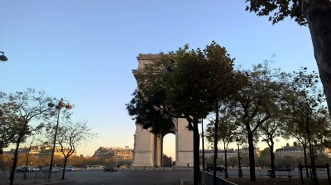 Running in Paris Arc de Triomph