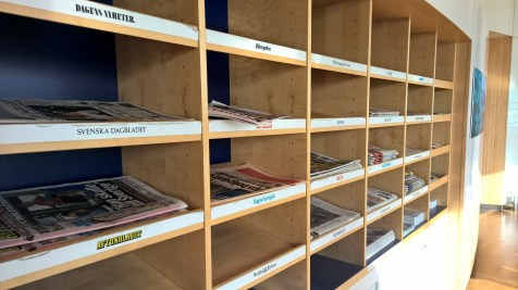 SAS Lounge Brussels Newspapers