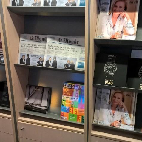 Air France Lounge Paris CDG 2F Newspapers