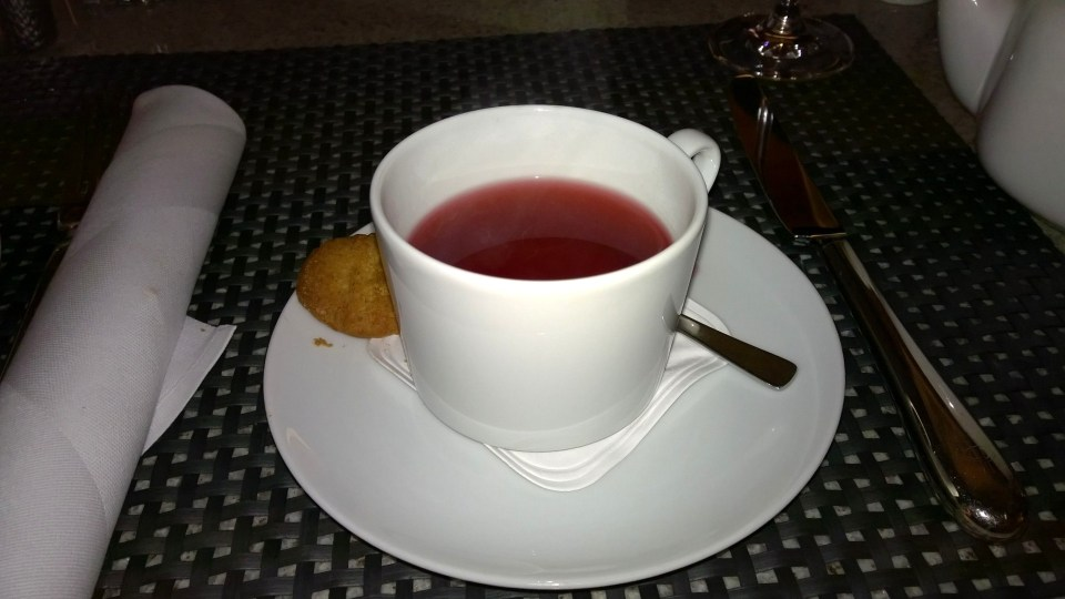 Especially the fruit tea was delicious