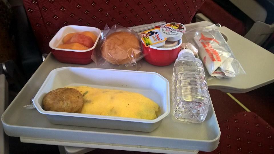 Air India Economy Class Breakfast