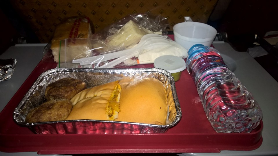 Air India Economy Class Dinner