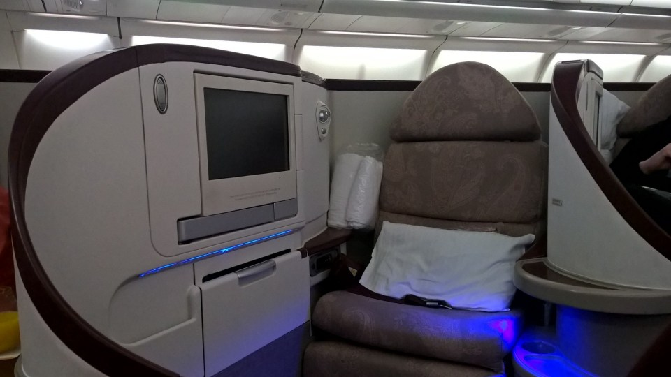 Jet Airways Business Class Seat
