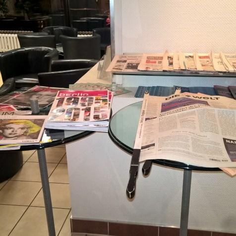 Hugo Junkers Lounge Berlin Newspapers