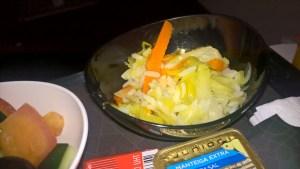 Turkish Airlines Economy Class Kitchen Dinner