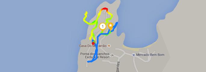 Running at Ponta dos Ganchos