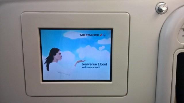 Air France Business Class Entertainment