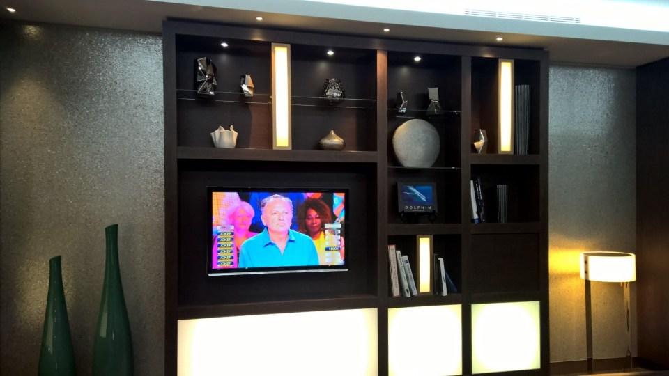 Etihad Lounge Paris Television