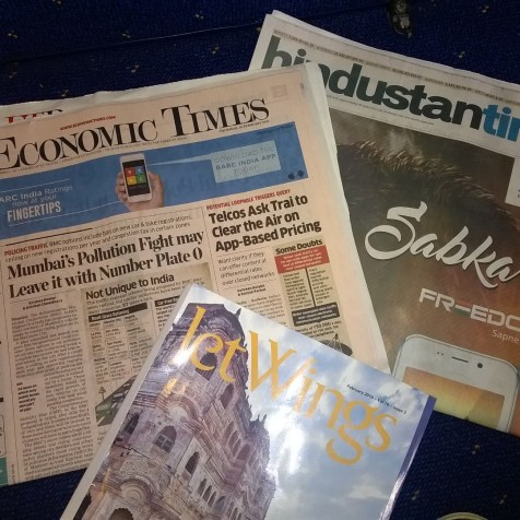 Jet Airways domestic Première Newspapers