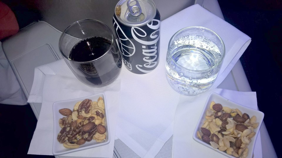 American Airlines Business Class Drink