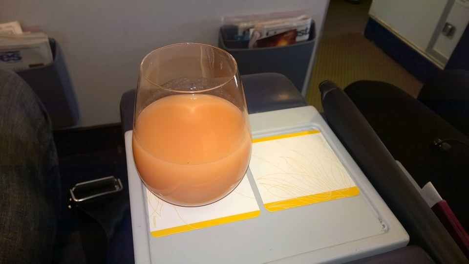 Jet Airways domestic Première Welcome Drink