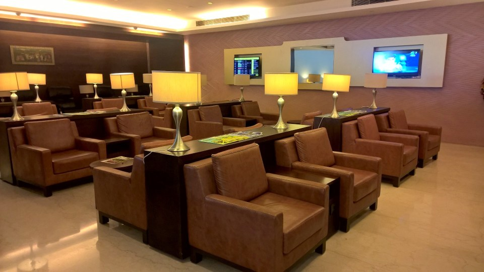 Air India Lounge Delhi Seating
