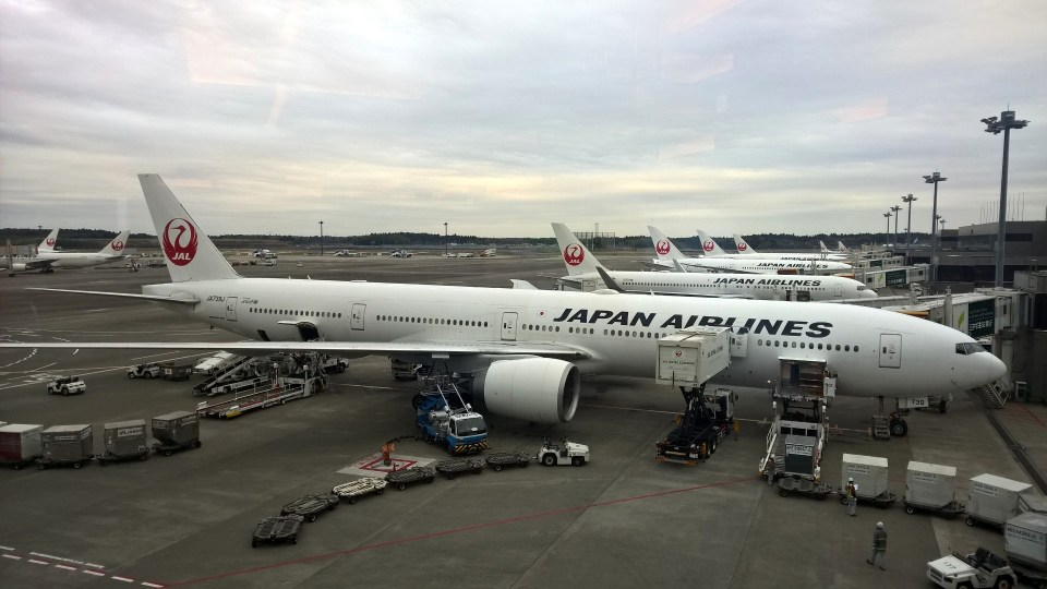JAL and ANA are the dominating carriers at the airport