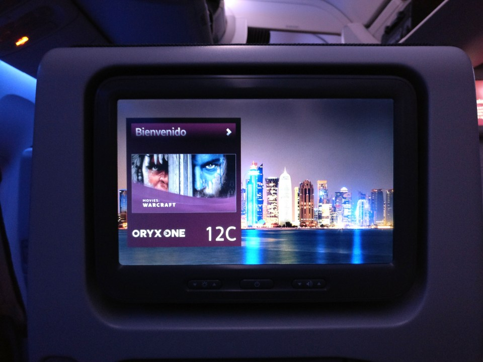 Qatar Airways Economy Class Boeing 777 Entertainment
