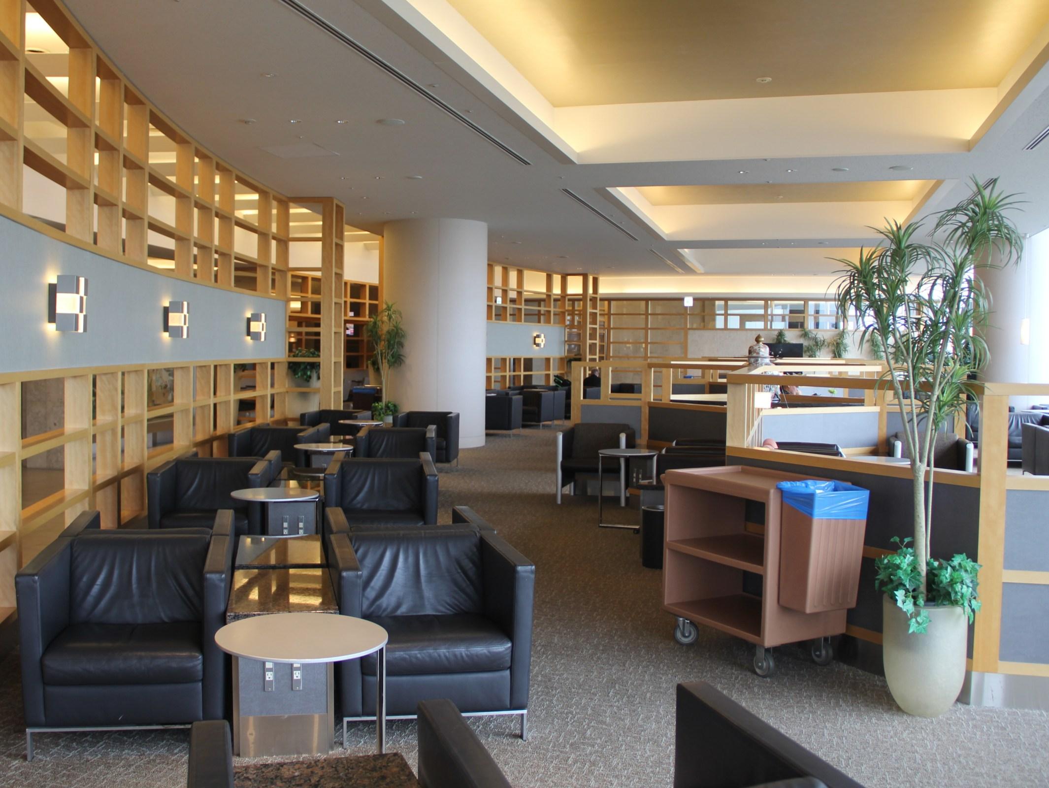 American Airlines Admirals Club Tokyo Narita Seating