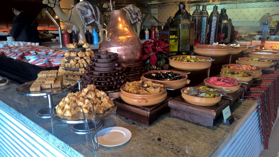 Conrad Dubai Breakfast