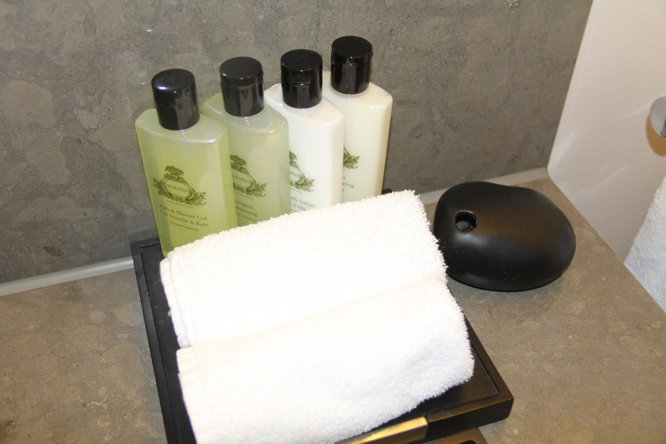 InterContinental Davos Club Room Toiletries
