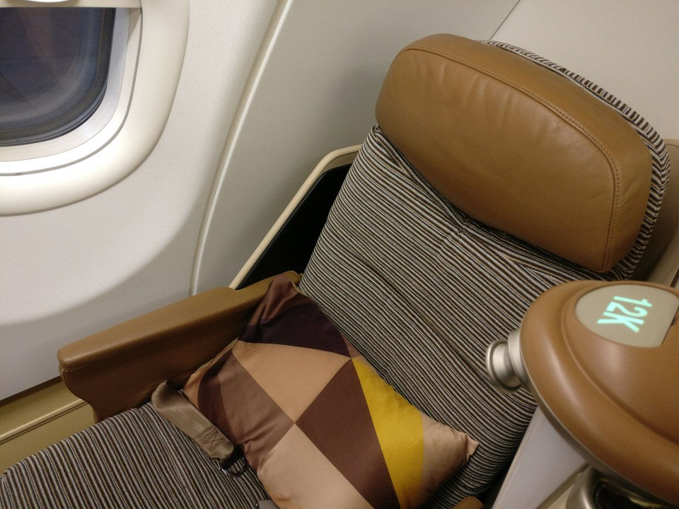 Etihad Airways Business Class Airbus A340-600 Seat