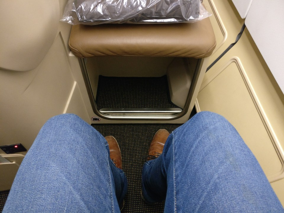 Etihad Business Class Airbus A340-600 Seat Pitch