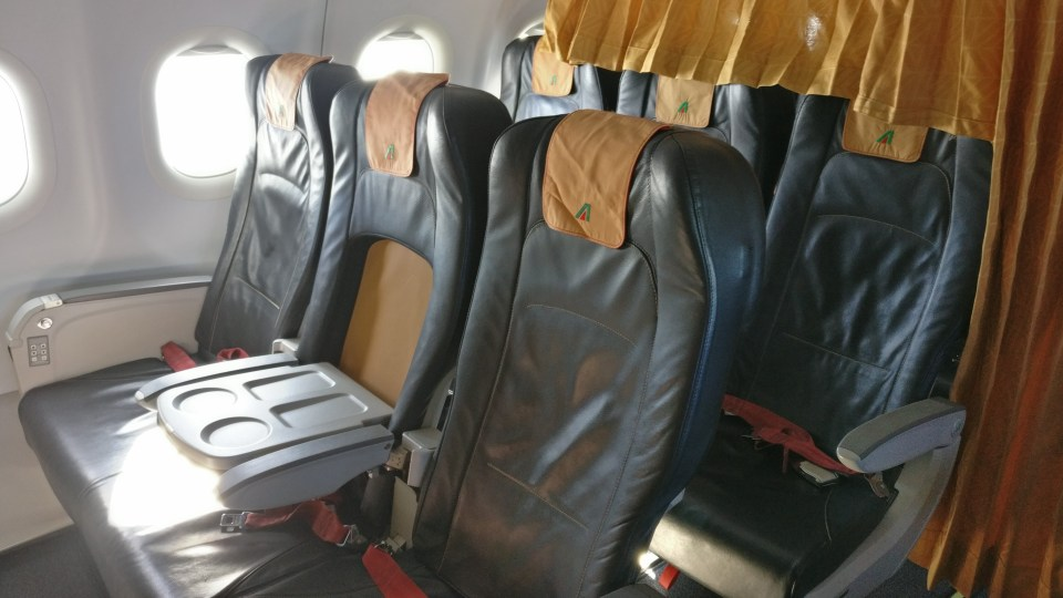 Alitalia Business Class Airbus A320 Seats