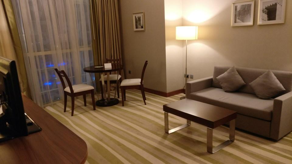 Hilton Garden Inn Dubai Al Muraqabat Suite Living Room