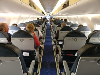 KLM Economy Class Embraer 190 Cabin