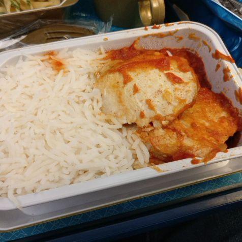 Oman Air Economy Class Airbus A330 Dinner