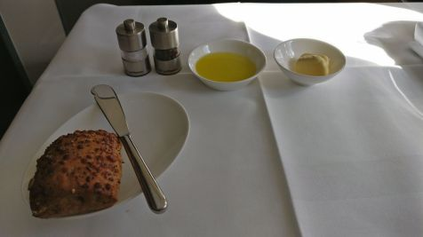 Lufthansa First Class Lunch