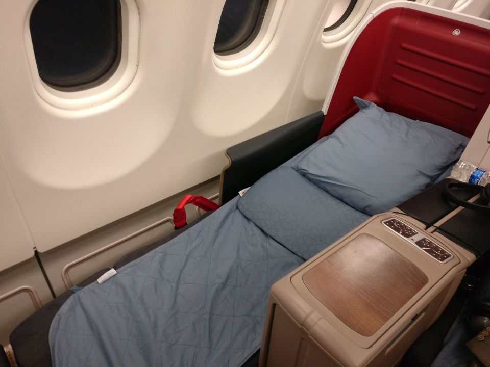 Turkish Airlines Business Class Airbus A330 Bed