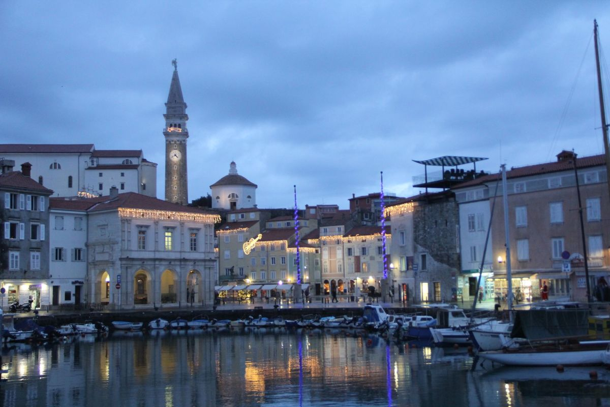 Piran Harbour Night