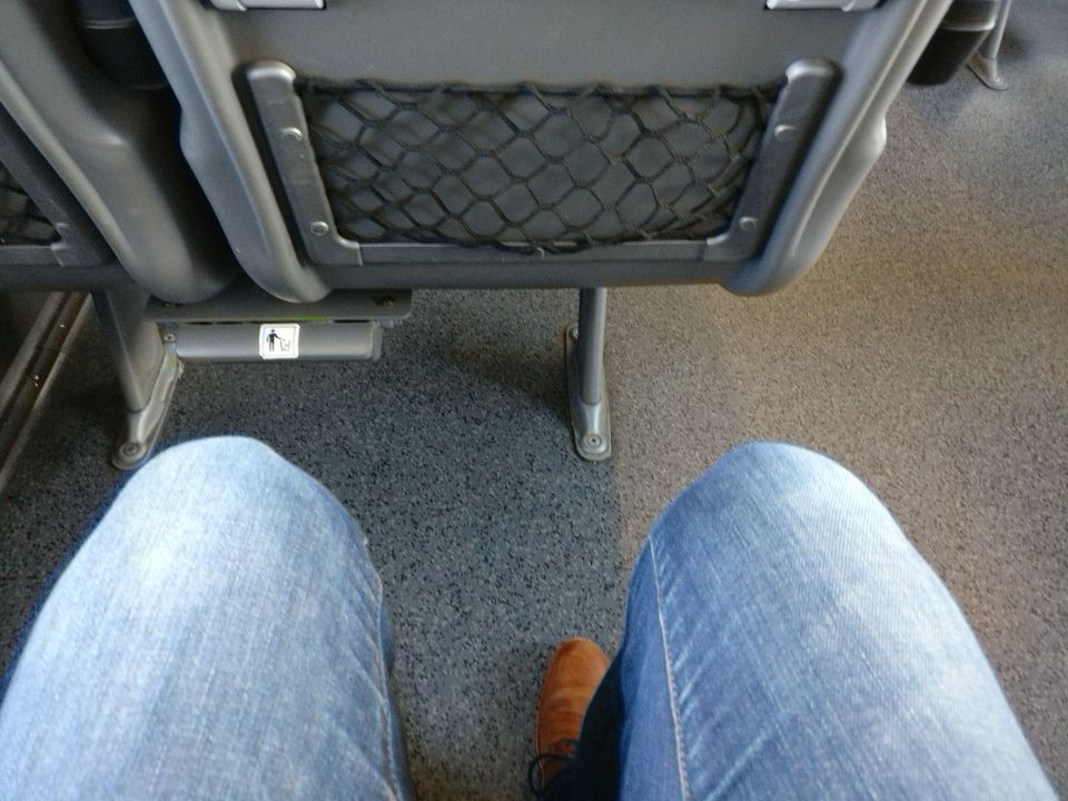 Railjet Second Class Seat Pitch