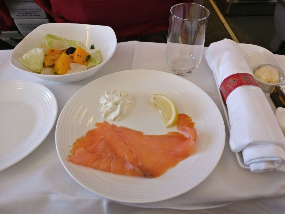 Ethiopian Airlines Business Class Boeing 737 Lunch