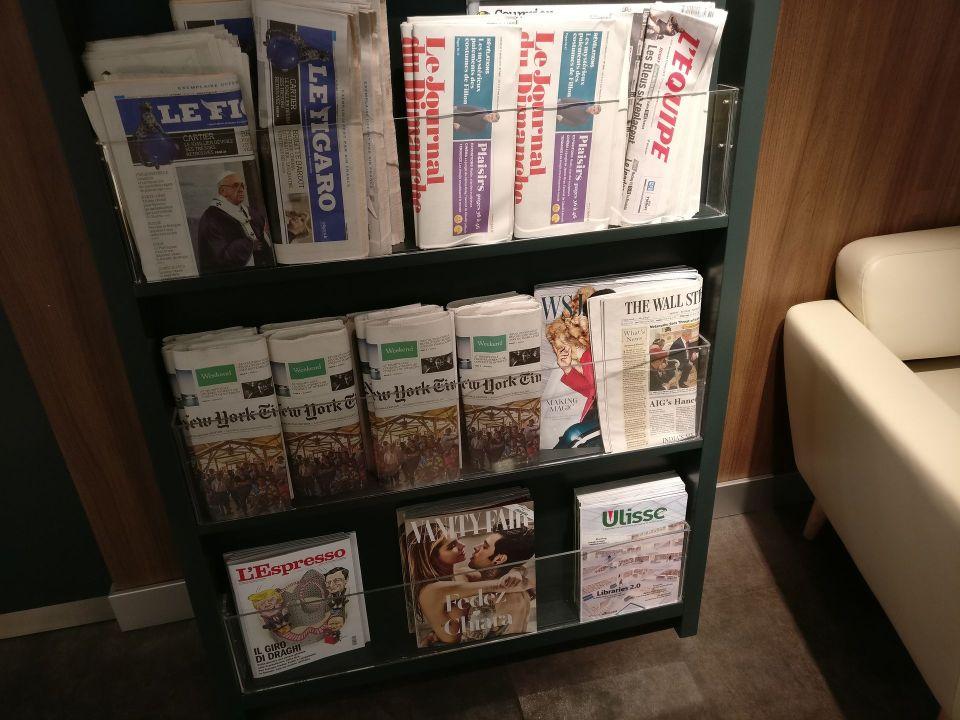 Casa Alitalia Milan Newspapers