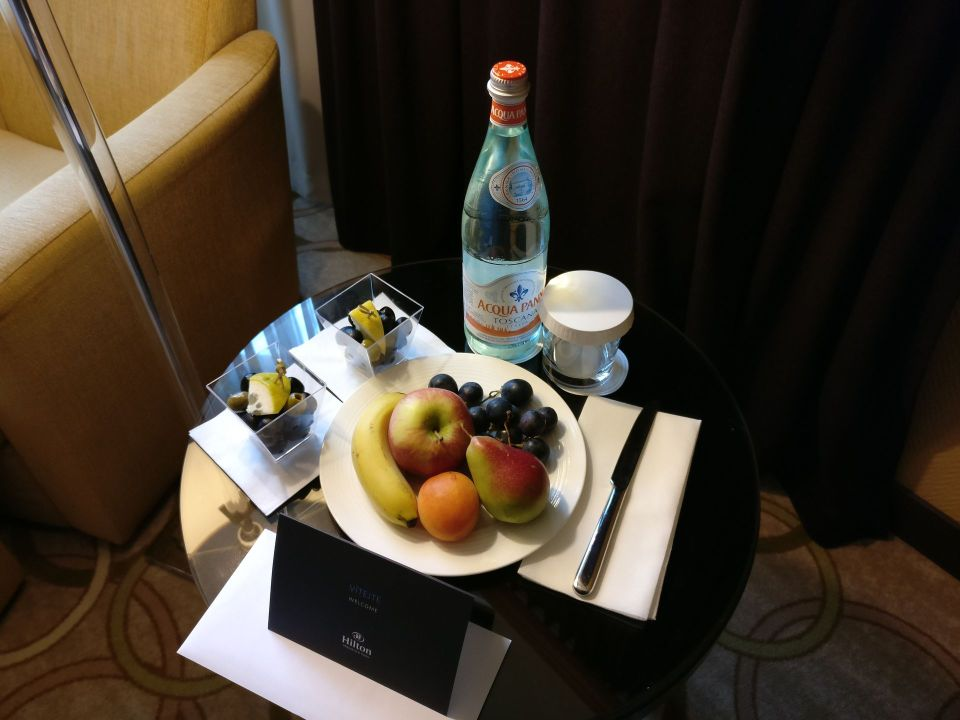 Hilton Prague Old Town Standard Room Welcome Gift