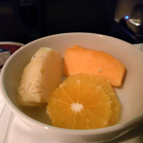 LATAM Business Class Boeing 767 Breakfast