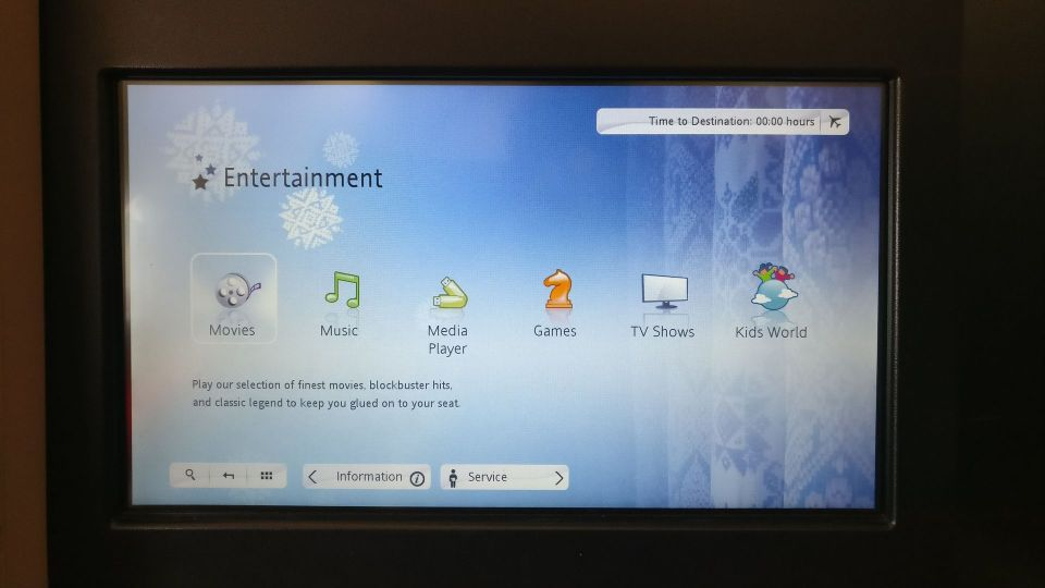 Garuda Indonesia Business Class Airbus A330 Entertainment System