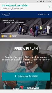 Garuda Indonesia Business Class Airbus A330 WiFi
