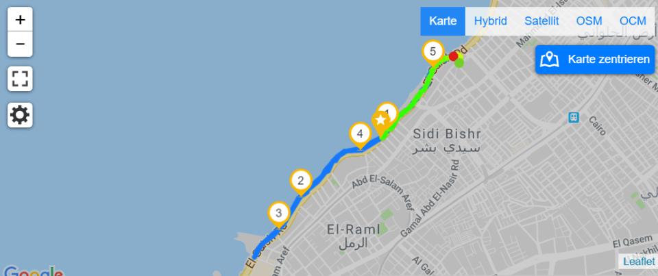 Map of Running in Alexandria