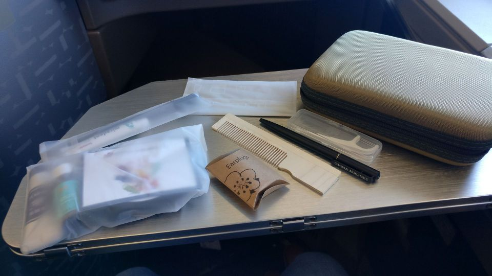China Airlines Business Class Airbus A350 Amenity Kit